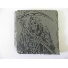 GRIM REAPER 4 SQUARE SLATE COASTER FOR ANY OCCASION