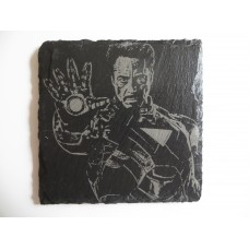 IRONMAN LASER ENGRAVED  ON A SLATE COASTER