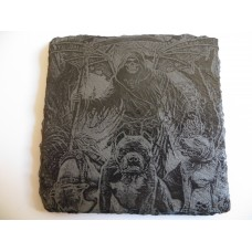 GRIM REAPER SQUARE NATURAL SLATE COASTER FOR ANY OCCASION