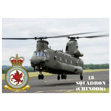 18 SQUADRON CHINOOK KEYRING/FRIDGE MAGNET/BOTTLE OPENER
