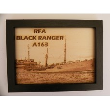 RFA BLACK RANGER LASER ENGRAVED PHOTOGRAPH