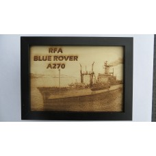 RFA BLUE ROVER LASER ENGRAVED PHOTOGRAPH