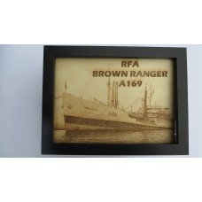 RFA BROWN RANGER LASER ENGRAVED PHOTOGRAPH