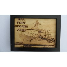 RFA FORT GEORGE LASER ENGRAVED PHOTOGRAPH