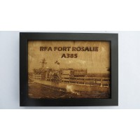 RFA FORT ROSALIE LASER ENGRAVED PHOTOGRAPH