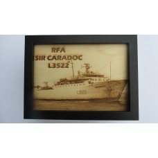 RFA SIR CARADOC LASER ENGRAVED PHOTOGRAPH