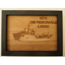 RFA SIR PERCIVALE LASER ENGRAVED PHOTOGRAPH