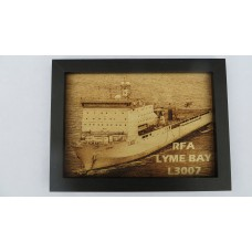 RFA LYME BAY LASER ENGRAVED PHOTOGRAPH