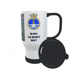 HMS ALBION R07 TRAVEL MUG