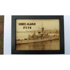HMS AJAX F114 73-85 LASER ENGRAVED PHOTOGRAPH