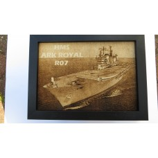 HMS ARK ROYAL R07 LASER ENGRAVED PHOTOGRAPH