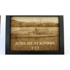 HMS BLACKPOOL F77 LASER ENGRAVED PHOTOGRAPH