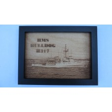 HMS BULLDOG H317 LASER ENGRAVED PHOTOGRAPH