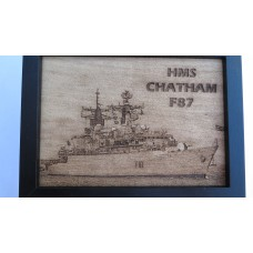 HMS CHATHAM F87 LASER ENGRAVED PHOTOGRAPH