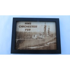 HMS CHICHESTER F59 LASER ENGRAVED PHOTOGRAPH