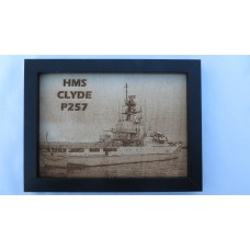 HMS CLYDE P257 LASER ENGRAVED PHOTOGRAPH