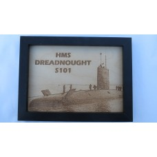 HMS DREADNOUGHT S101 LASER ENGRAVED PHOTOGRAPH