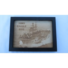 HMS EAGLE R05 LASER ENGRAVED PHOTOGRAPH