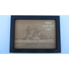 HMS EXETER D89 LASER ENGRAVED PHOTOGRAPH