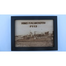 HMS FALMOUTH F113 LASER ENGRAVED PHOTOGRAPH