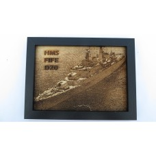 HMS FIFE D20 66-75 LASER ENGRAVED PHOTOGRAPH