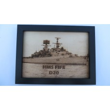 HMS FIFE D20 76-87 LASER ENGRAVED PHOTOGRAPH