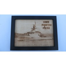 HMS FORTH P222 LASER ENGRAVED PHOTOGRAPH