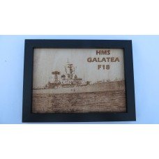 HMS GALATEA F18 64-71 LASER ENGRAVED PHOTOGRAPH