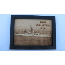 HMS GALATEA F18 74-87 LASER ENGRAVED PHOTOGRAPH