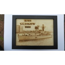 HMS GLASGOW D88 LASER ENGRAVED PHOTOGRAPH