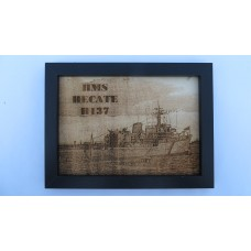 HMS HECATE A137 LASER ENGRAVED PHOTOGRAPH