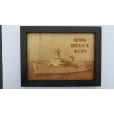 HMS HECLA  A133 LASER ENGRAVED PHOTOGRAPH