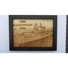 HMS ILLUSTRIOUS R06 LASER ENGRAVED PHOTOGRAPH