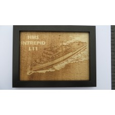 HMS INTREPID L11 LASER ENGRAVED PHOTOGRAPH