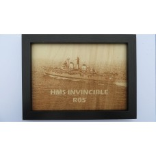 HMS INVINCIBLE R05 LASER ENGRAVED PHOTOGRAPH