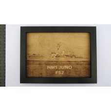 HMS JUNO F52 LASER ENGRAVED PHOTOGRAPH