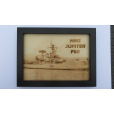 HMS JUPITER F60 69-80 LASER ENGRAVED PHOTOGRAPH
