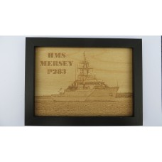 HMS MERSEY P283 LASER ENGRAVED PHOTOGRAPH
