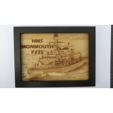 HMS MONMOUTH F235 LASER ENGRAVED PHOTOGRAPH