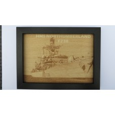 HMS NORTHUMBERLAND F238 LASER ENGRAVED PHOTOGRAPH