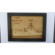 HMS NUBIAN F131 LASER ENGRAVED PHOTOGRAPH