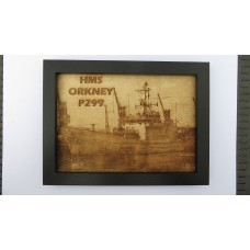 HMS ORKENY P299 LASER ENGRAVED PHOTOGRAPH