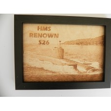 HMS RENOWN S26 LASER ENGRAVED PHOTOGRAPH