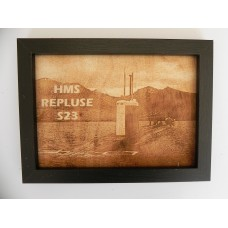 HMS REPULSE S23 LASER ENGRAVED PHOTOGRAPH