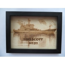 HMS SCOTT H131 LASER ENGRAVED PHOTOGRAPH