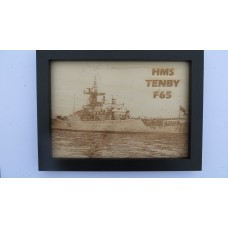 HMS TENBY F65 LASER ENGRAVED PHOTOGRAPH