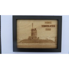 HMS TIRELESS S88 LASER ENGRAVED PHOTOGRAPH