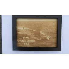 HMS VANGUARD S28 LASER ENGRAVED PHOTOGRAPH