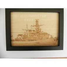 HMS WESTMINSTER F237 LASER ENGRAVED PHOTOGRAPH