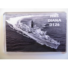 HMS DIANA D126 KEYRING/FRIDGE MAGNET/BOTTLE OPENER